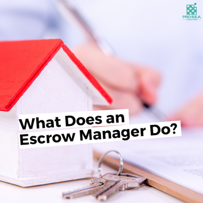 what does an escrow manager do