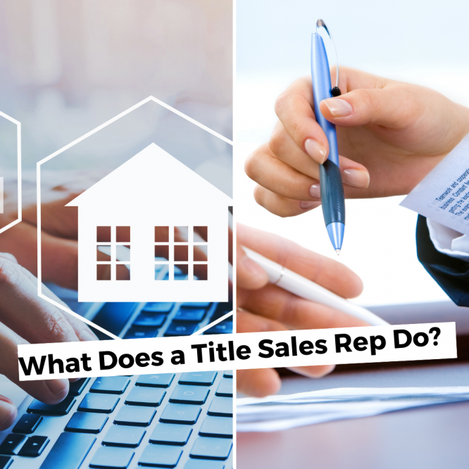 what does a title sales rep do